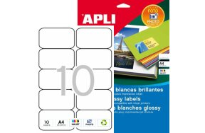 APLI LABELS N.02924 PHOTO GLOSSY INKJET 99,1x57mm